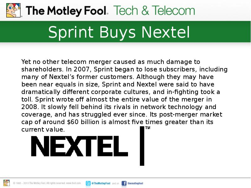 analysis of sprint and nextel merger