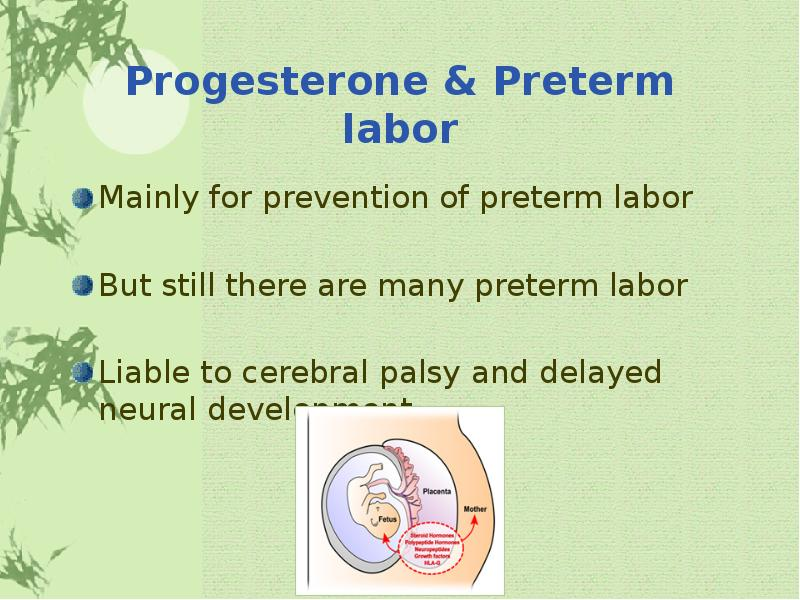 progesterone for maintenance tocolytic therapy after threatened preterm labour essay Dodd jm, crowther ca, dare mr, middleton p oral betamimetics for maintenance therapy after threatened preterm labour cochrane database of systematic reviews 2006, issue 1.