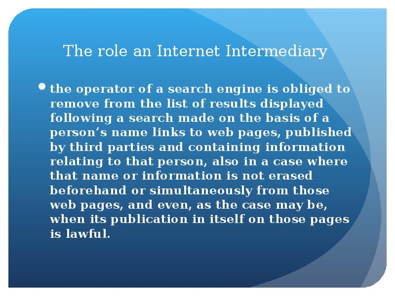 the role of the internet in The importance of networking on the internet this post is a little personal in nature, but i'm sure if you read through the end, you'll enjoy reading this story as much as i enjoyed telling it in fact, i've been meaning to tell this story for nearly two years.