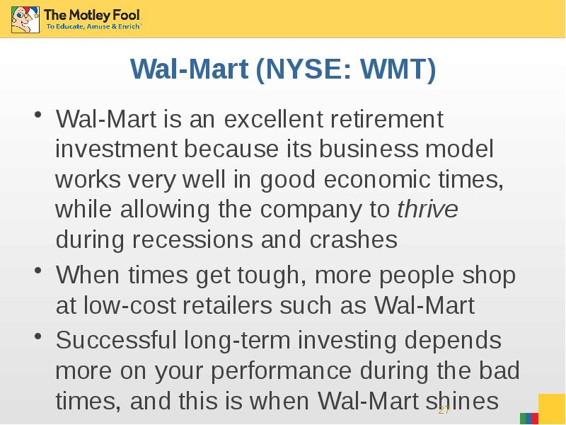 exploring the reasons why wal mart is so successful Wal-mart routinely experiences roadblocks as it tries to enter new markets a relentless barrage of negative publicity concerning employee and supplier practices has helped keep its stock price stagnant over the past half dozen years or so, while rivals target and costco have thrived.