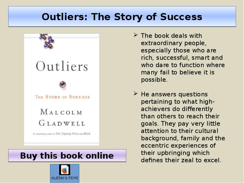 outliers maritas story Overview of outliers: the story of maritas bargain profiles a outliers the story of success by malcolm gladwell - outliers the story of success by malcolm.