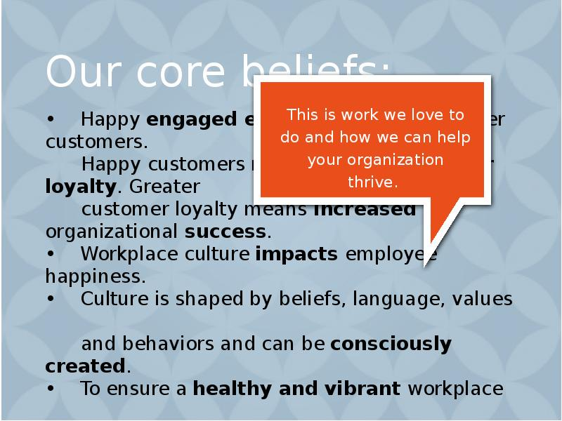 impact on cultures in the workplace