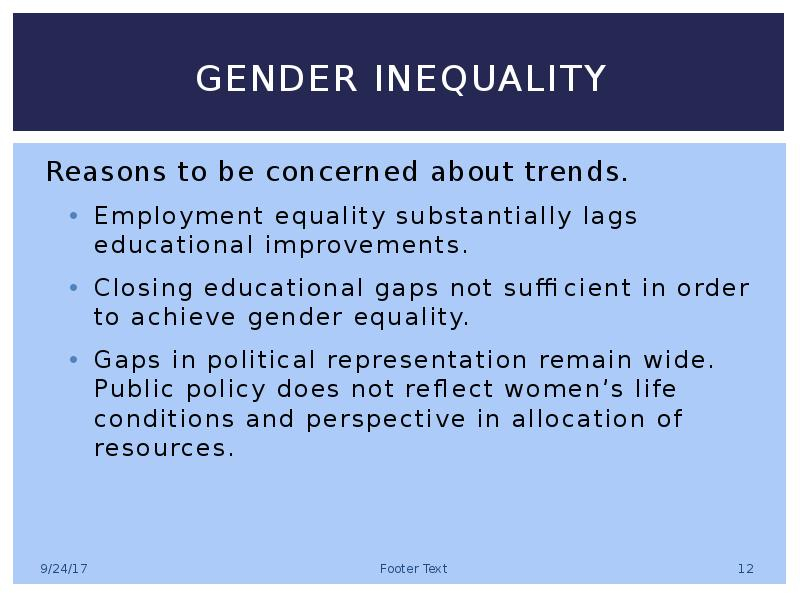 gender inequality in the educational system Does gender inequality in education affect educational outcomes qualitydifferencesthatexistbetweeneducationsystemsusingquantitativemeasuresof.
