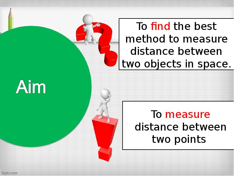 Measure distance between two points