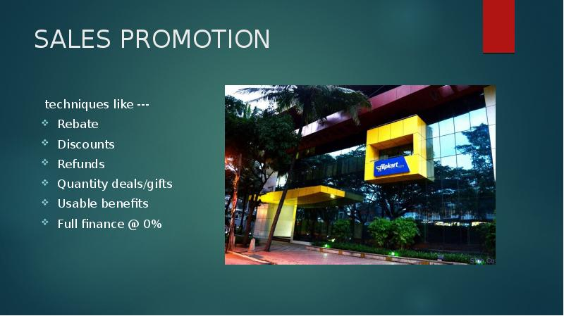 sales promotion techniques 1 1 advertising and sales promotion unit – i introduction adverting is only one element of the promotion mix, but it often considered prominent in the overall marketing mix design.
