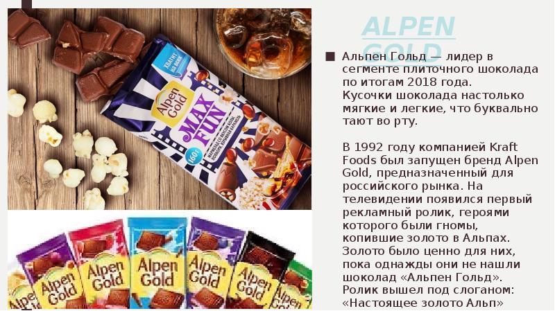 Шоколад альпен гольд открытка