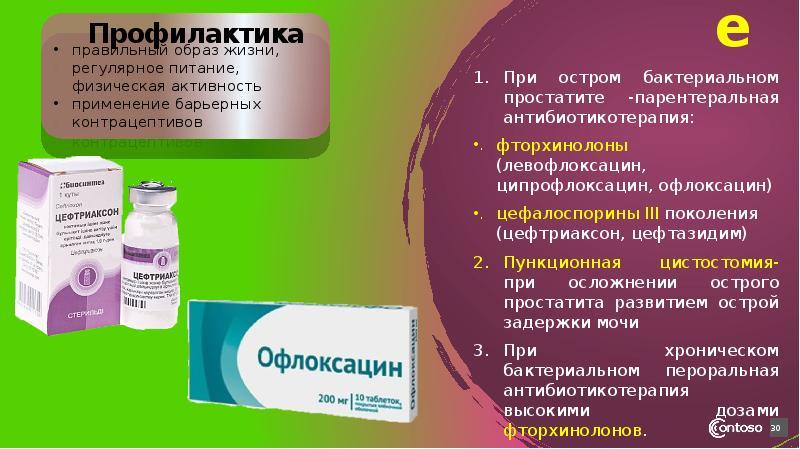 Офлоксацин схема лечения простатита простатит у мужчины хронический